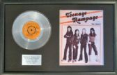 "THE SWEET  -7"" Platinum Disc & Songsheet -TEENAGE RAMPAGE"